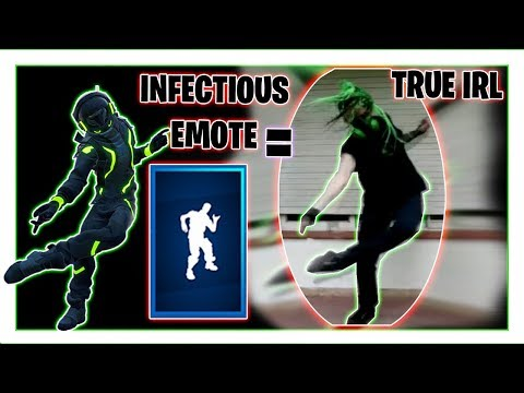 "Infectious Emote In Real Life, IT'S NOT ""Cybergoth Dance Party"", Fortnite Season 10"