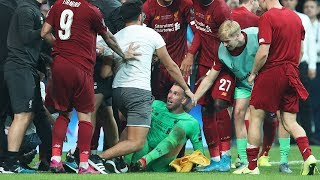 Liverpool matchwinner Adrian injured  by pitch invader during Super Cup