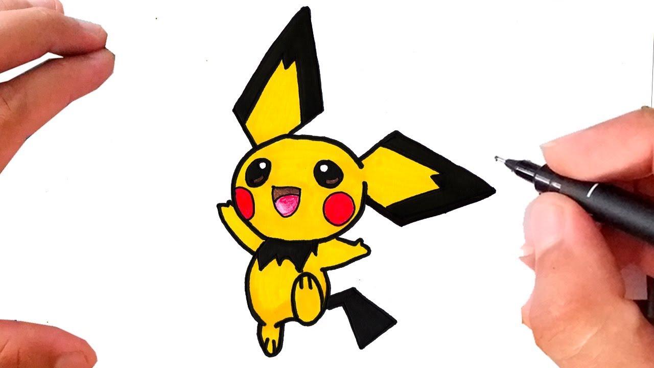 Como Desenhar E Pintar Pichu Pokemon Art Amino