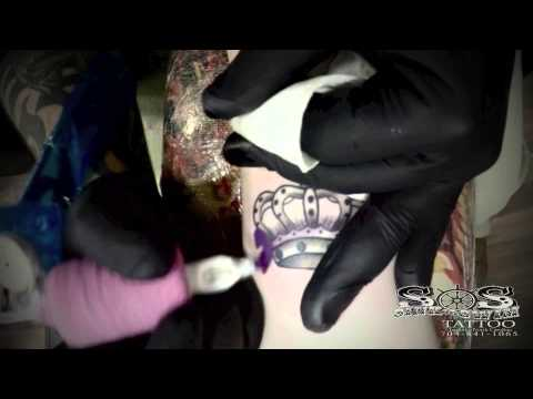 7c382edb2 Elijah Blackwell - Water Color Crown Tattoo Timelapse - YouTube