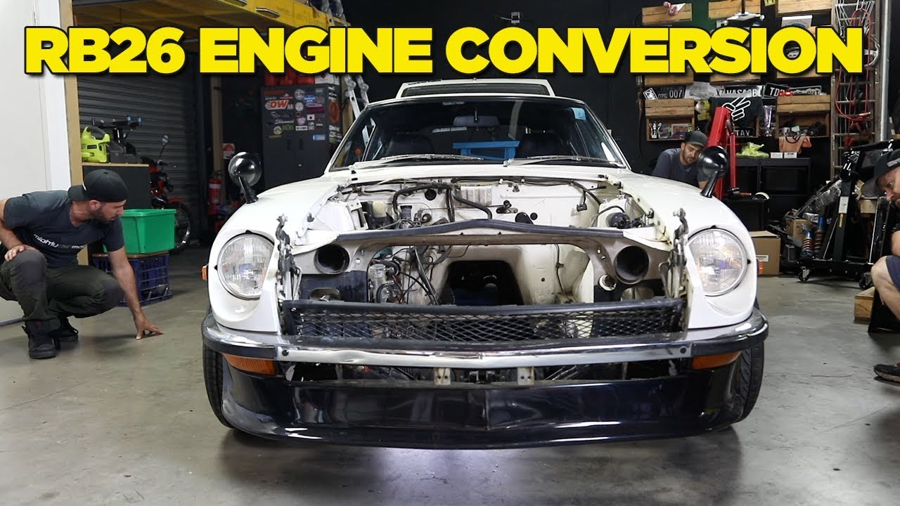 240Z - RB26 Engine Conversion [PART 1] - YouTube