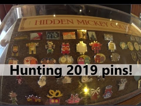 2c6d95ae988a On the Hunt for 2019 hidden mickey pins at Disney Springs - YouTube
