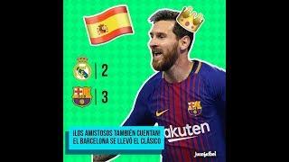 MEMES REAL MADRID BARCELONA 2-3 CLASICO ESPAÑOL MIAMI AMISTOSO NEYMAR ULTIMO PARTIDO