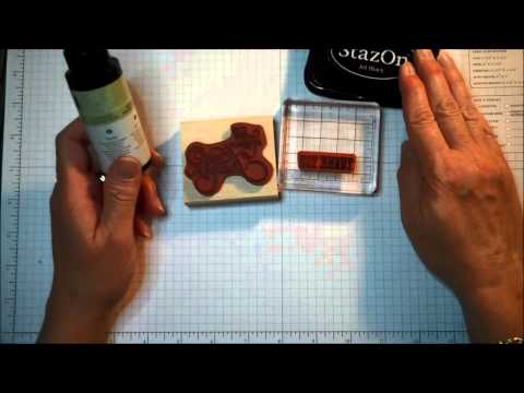 Stampin' Up! Stamping 101 Tool Tip:  Cleaning StazOn Ink From Stamps