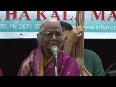 Music Concert by Sageetha Kalanidhi Dr  R Vedavalli  -  Vocal