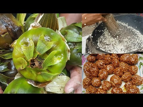Puffed Snowball | Water Lily Seed Puffed | Rare Traditional Food | Tasty Jaggery Snowball Recipe