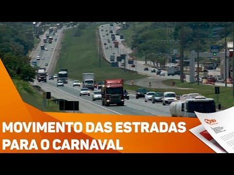 Movimento das estradas para o Carnaval - TV SOROCABA/SBT