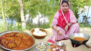 village food!!ডিমের এই কোপ্তা রেসিপি থাকলে গরম ভাতে আর কিছুই লাগবে না||egg kopta masala curry recipe