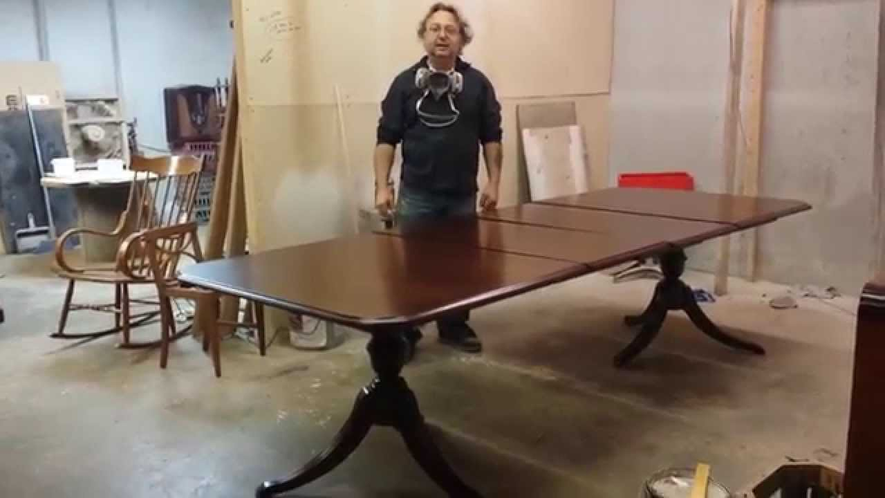 refinishing a thomasville cherry dining table at timeless