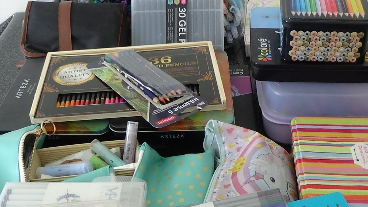 Tout Mon Materiel Feutres Crayons Stylos De Mes Coloriages Pour