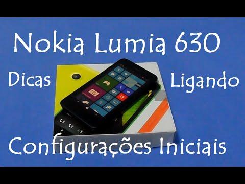Nokia Lumia 630  |  Ligando e configurando o aparelho