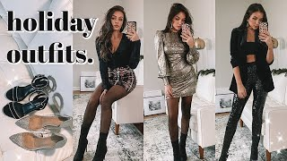 HOLIDAY OUTFIT IDEAS ✨ 7 LOOKS TO WEAR THIS SEASON! (casual + dressy)