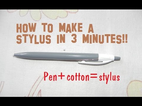 How to make a DIY stylus in 3 minutes!! for tablet/phones ...