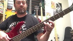 """How to play """"Doin Time"""" by Lana Del Ray (Sublime cover) bass guitar lesson"""