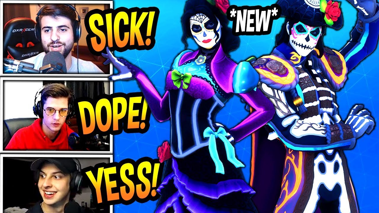 Streamers react to new rosa dante skins spirit - Fortnite dante ...