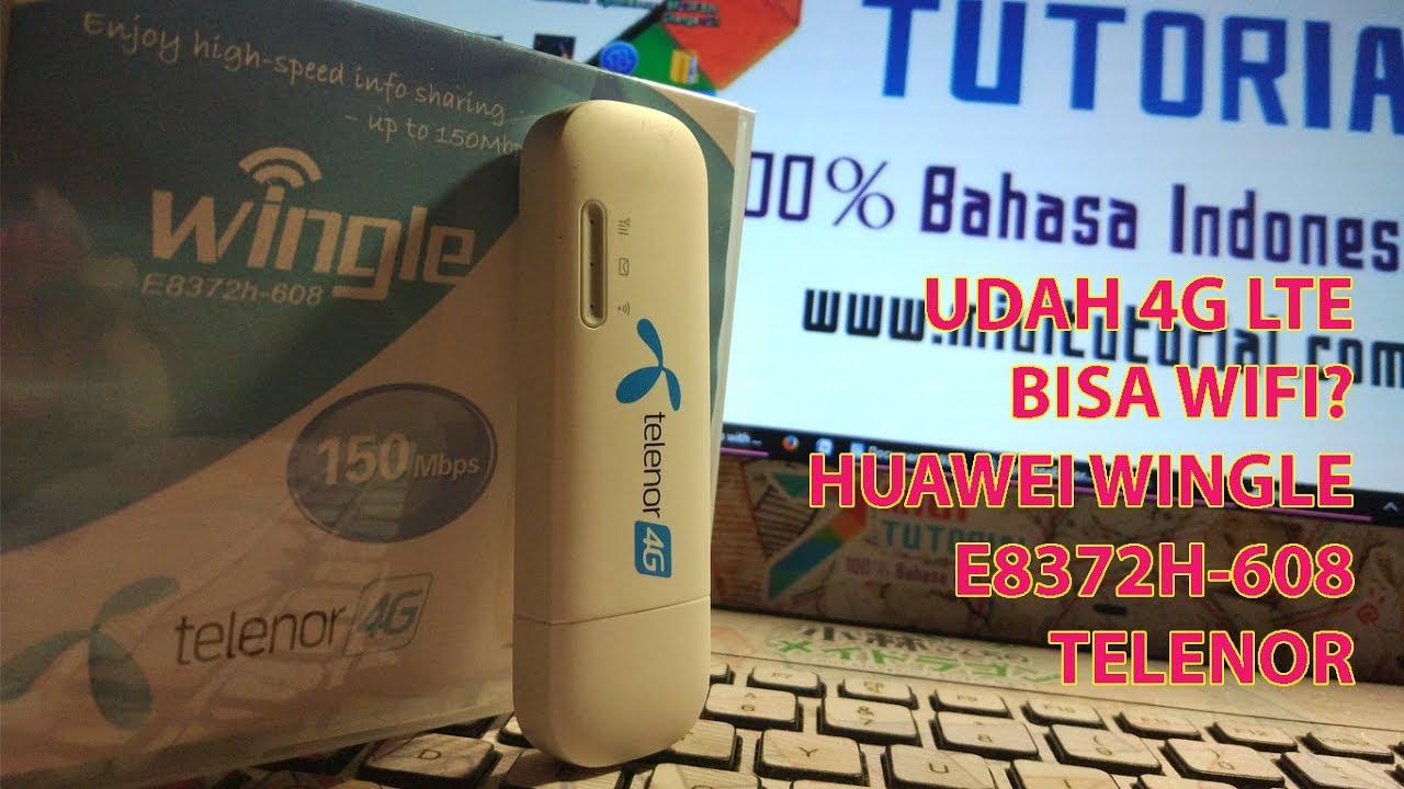 Modem 4g Murah Bisa Wifi Lagi Huawei E8372h 608 Pakai Powerbank E5575s Mifi Unlock Bundling Telkomsel Black Unboxing Setup Sederhana