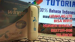 Modem 4G Murah Bisa Wifi Lagi Huawei E8372h 608 Pakai Powerbank Unboxing
