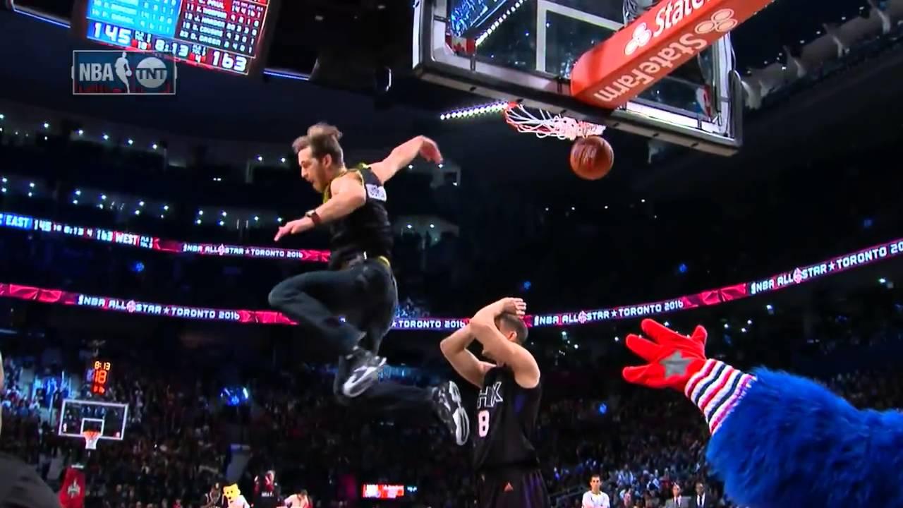 Wielka wyprzedaż ekskluzywne buty wiele modnych Jordan Kilganon Shocks NBA All-Stars by Dunking in Jeans!