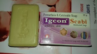 Igcon Scabi Medicated Soap use  and side effect full hindi review company Life com pharma