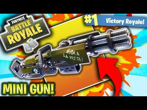new mini gun first look fortnite battle royale v2 4 0 update fortnite - fortnite minigun update