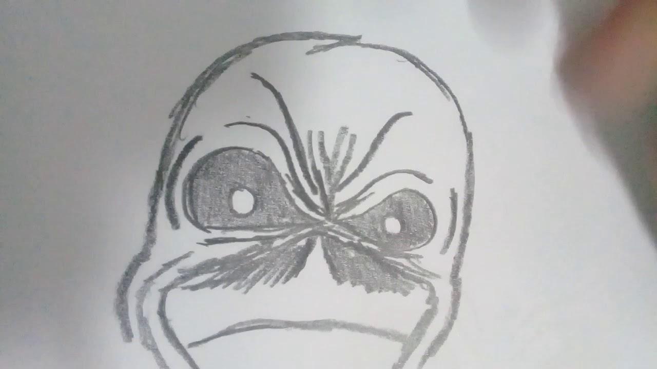 Desenhando Eddie do Iron Maiden (improviso) - YouTube