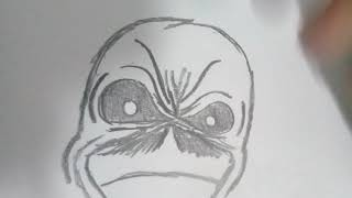 Desenhando Eddie do Iron Maiden (improviso)