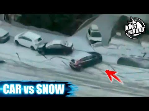 Car ice Sliding crash 2021. Winter weather. No brakes