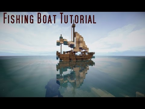 Minecraft Tutorial: Small Fishing Boat