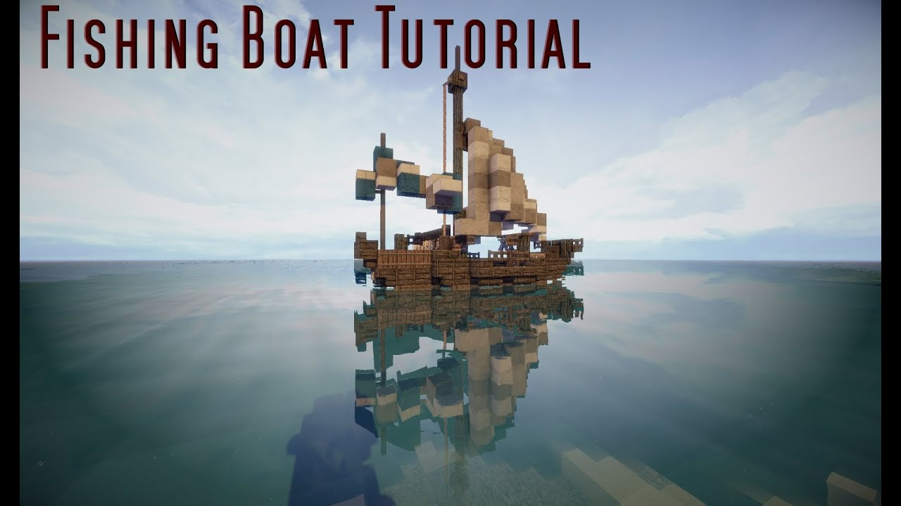 Minecraft Tutorial: Small Fishing Boat - YouTube