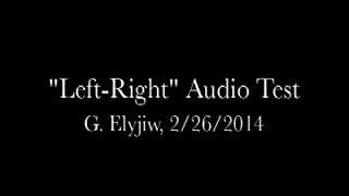 Left-Right Channel Audio Test