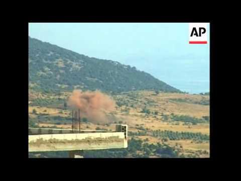 Hezbollah and Israeli troops exchange fire along border