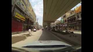 Driving from Lahore to the Wagah border, Pakistan (2/13)