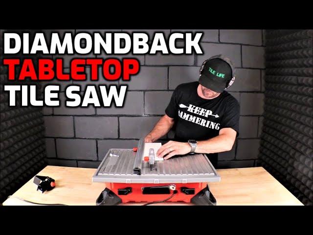 new diamondback tabletop tile saw by