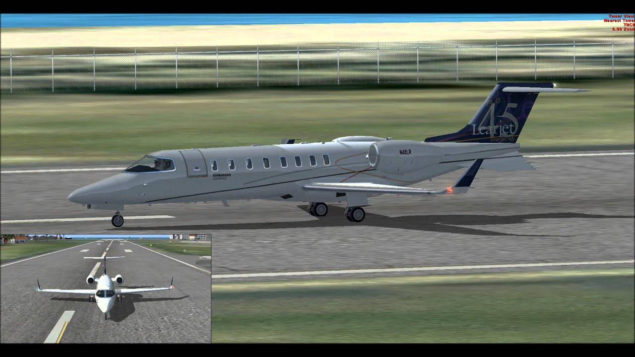 FSX Bombardier Learjet 45 anniversary livery