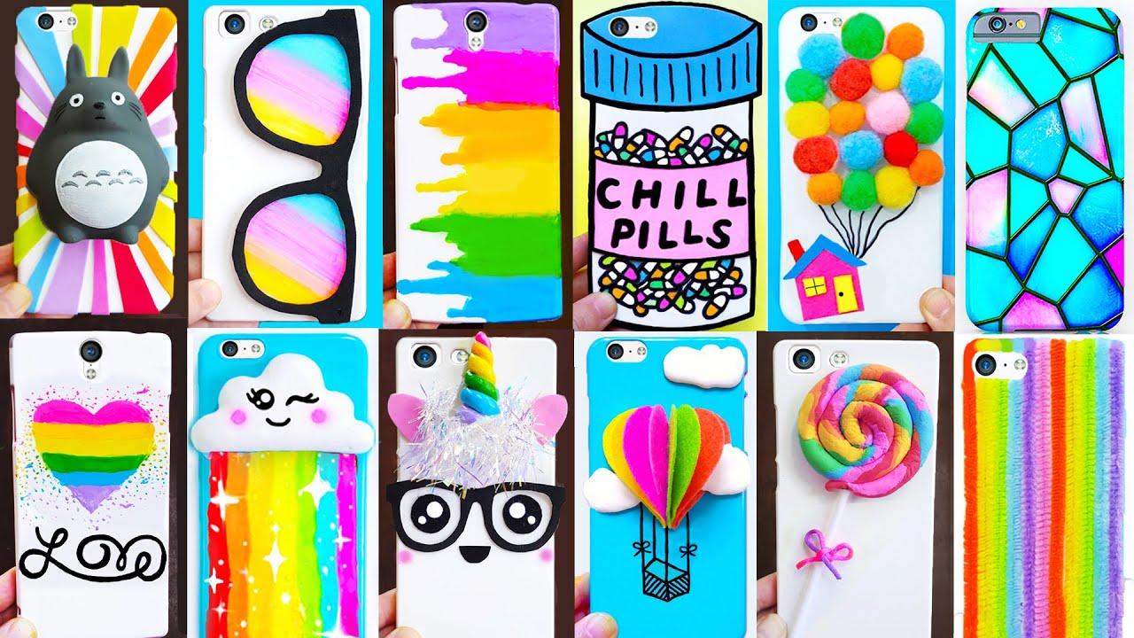 15 DIY PHONE CASES inspired by Rainbow 🌈| Easy & Cute Phone Projects & iPhone Hacks