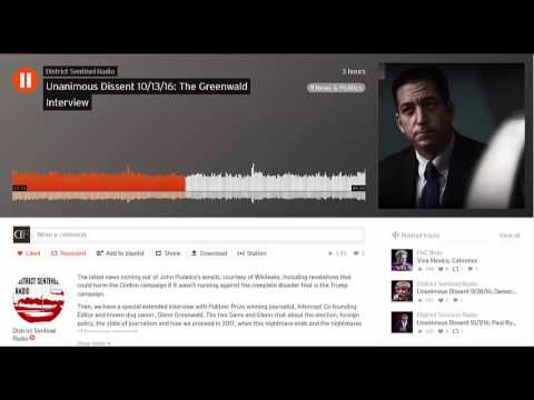 Glenn Greenwald on Unanimous Dissent Discussing Eichenwald, Wikileaks, Russia, Clinton and Trump