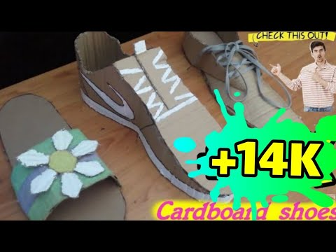 How to make cardboard shoes | Cardboard shoes DIY