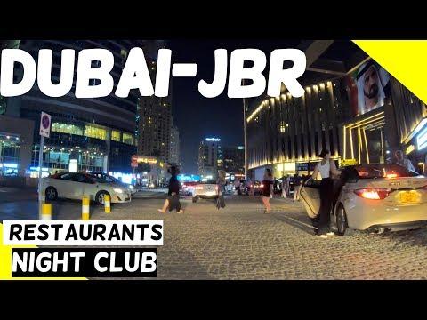Dubai JBR -At Night Best Restaurants & Night Club