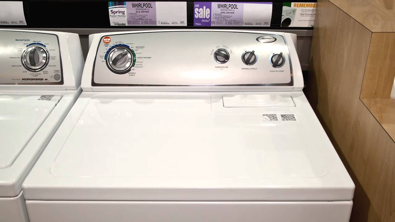 Whirlpool Wed4900xw T L Dryer Youtube Wiring Diagram Model Wgd4800bq