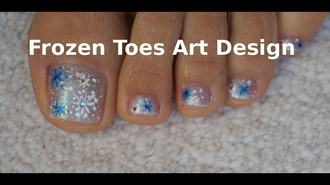 Frozen Toes Art Design Easy Tutorial Snowflakes For Beginners Youtube