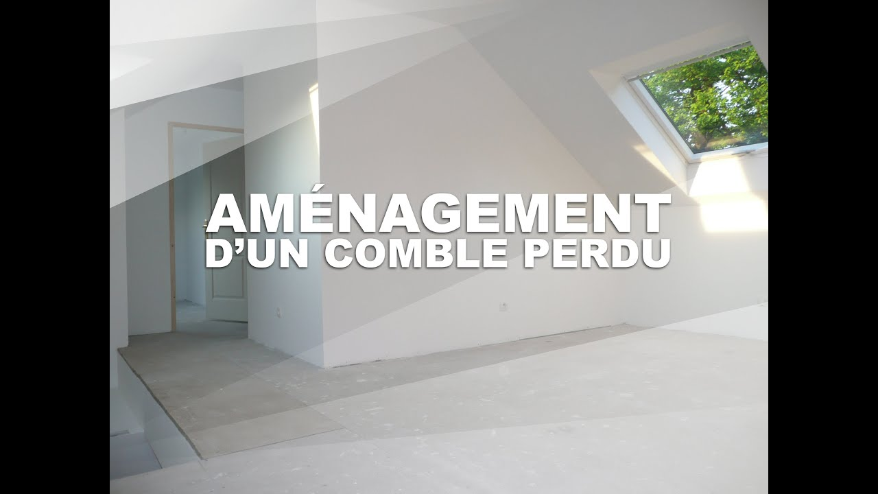 Am nagement d 39 un comble perdu avec mezzanine youtube for Amenagement chambre comble
