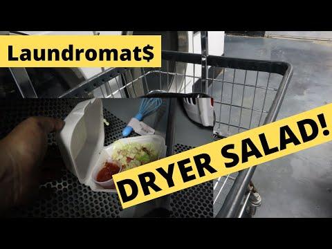 SALAD IN A DRYER!!! Stolen Laundromat Equipment! Fixing A Speed Queen Top Loader!   Following Keenan