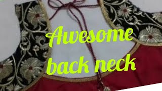 Awesome back neck pattern by fashion fashion #FashionFashion