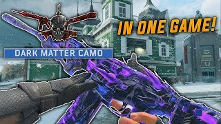 UNLOCKING DARK MATTER & 27 DIAMOND CAMOS in 1 GAME! - Get DARK MATTER FAST in COD BO4!