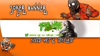 Joker Banner Template  - Speed Art