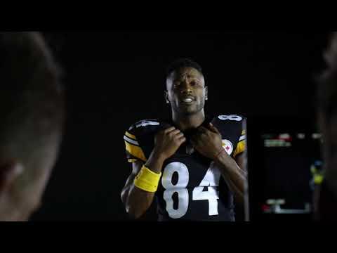 Average Guy vs. NFL Superstar Antonio Brown | Football Challenge vs. Madden 19 Cover Athlete