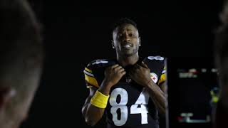 Average Guy vs. NFL Superstar Antonio Brown | Football Challenge vs. Madden 19 Cover Athlete