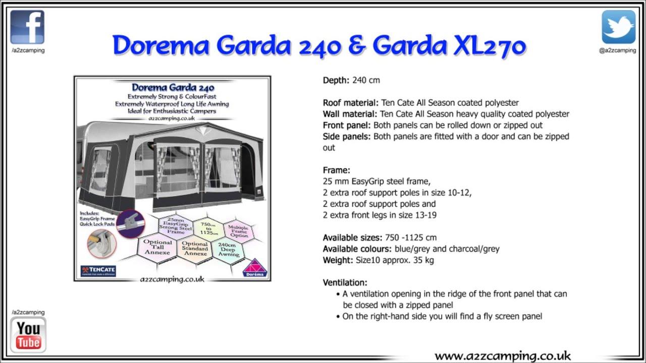 Dorema Garda Caravan Awning
