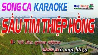 Sầu Tím Thiệp Hồng Song Ca - Karaoke Duy Tùng