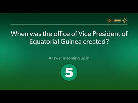 When was the office of Vice President of Equatorial Guinea created?   Equatorial Guinea Quiz
